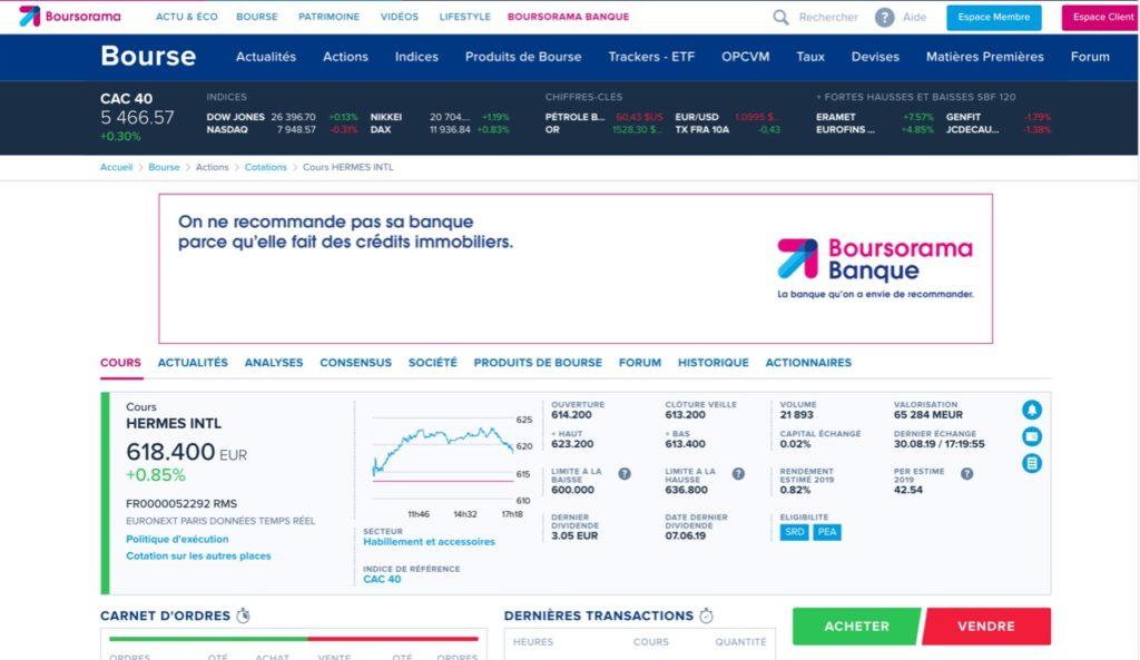 informations pour investir